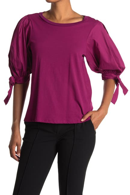 Image of Cinq a Sept Daise Puffed Sleeve Top