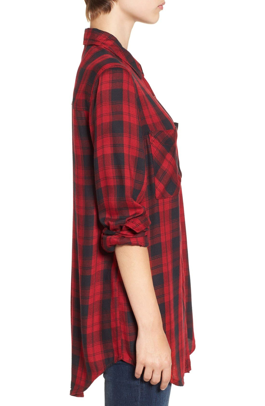 ,                             Plaid Tunic Shirt,                             Alternate thumbnail 41, color,                             610