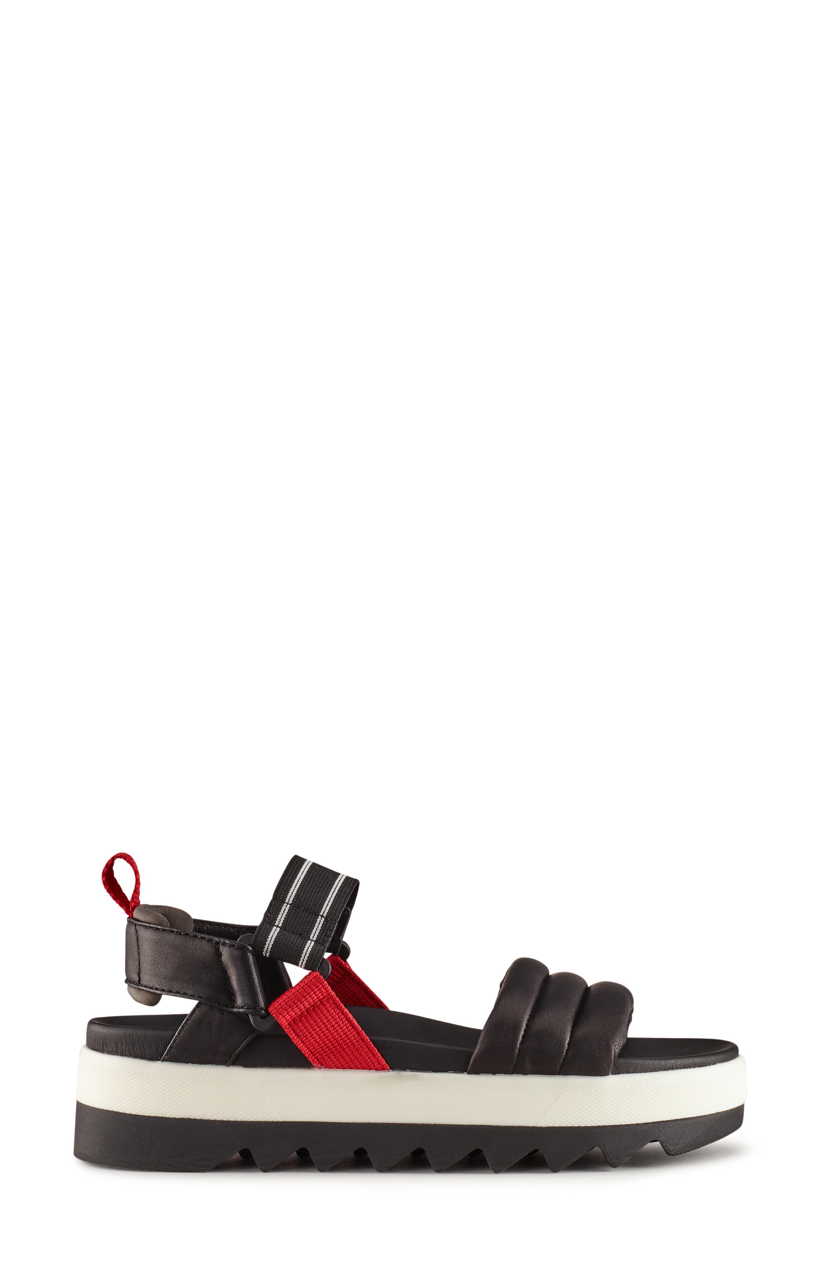 ,                             Pippy Platform Sandal,                             Alternate thumbnail 2, color,                             BLACK/ RED LEATHER