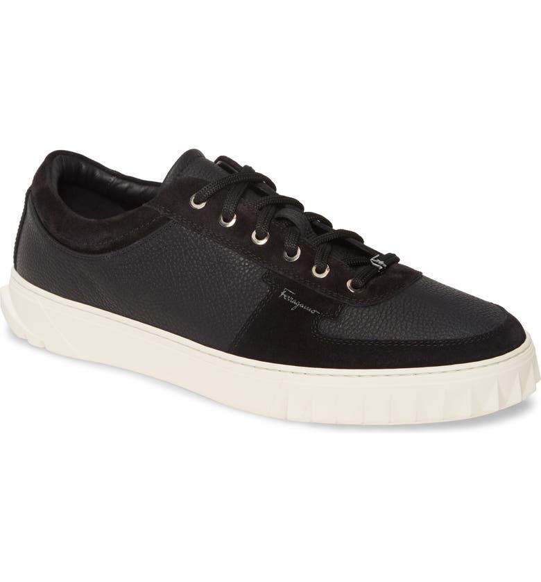 SALVATORE FERRAGAMO Scuby Sneaker, Main, color, NERO