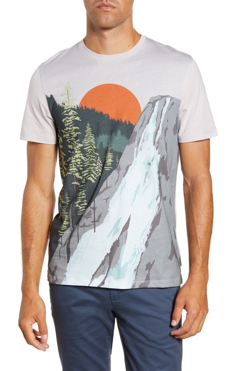TED BAKER LONDON Slim Fit Graphic T-Shirt, Main, color, LILAC