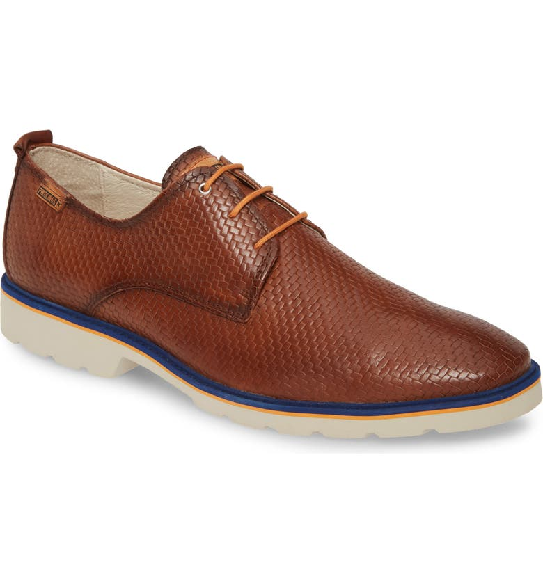 PIKOLINOS Salou Plain Toe Oxford, Main, color, CUERO