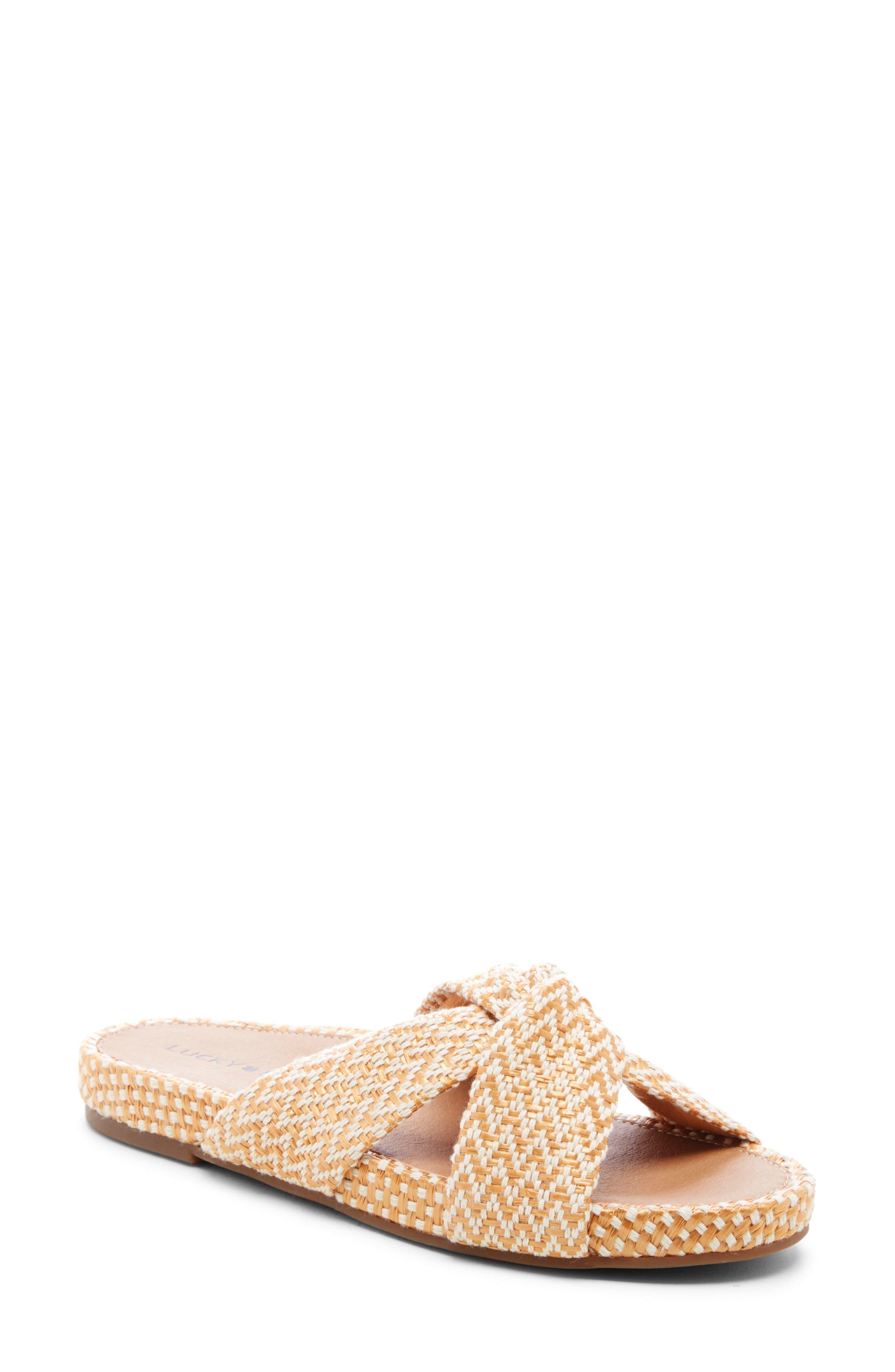 Lucky Brand Fynna Slide Sandal, Yellow