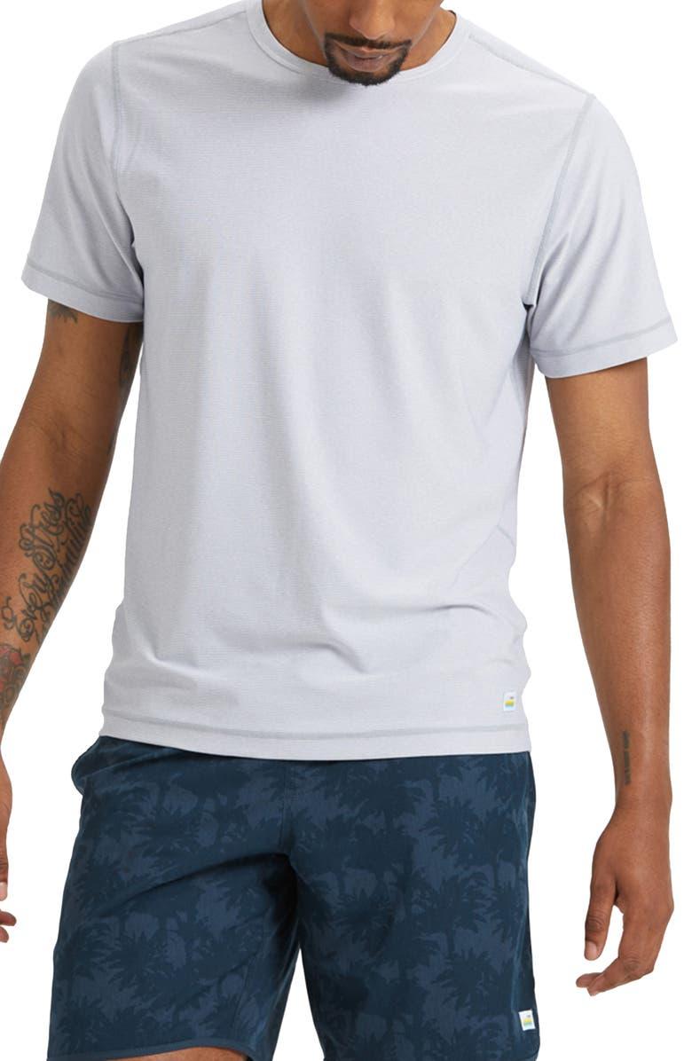 VUORI Flux T-Shirt, Main, color, HEATHER GREY