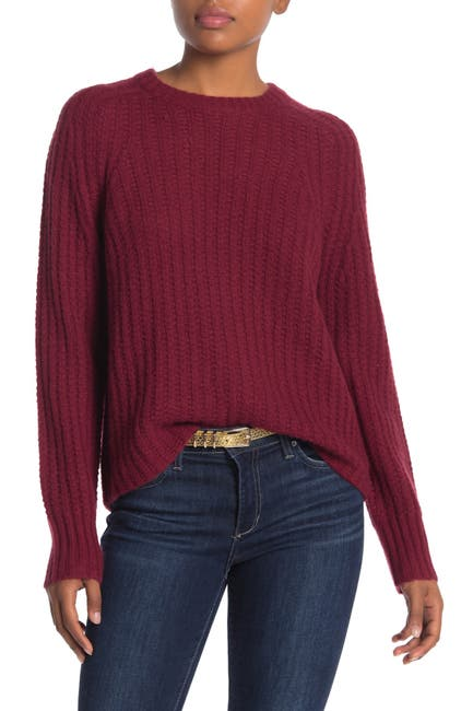 Image of 360 Cashmere Pamela Ribbed Wool & Cashmere Blend Sweater