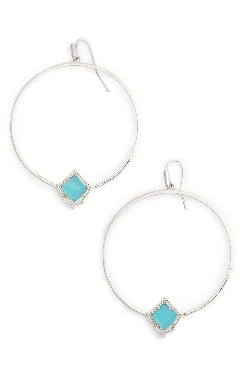 KENDRA SCOTT Elberta Hoop Earrings, Main, color, 301