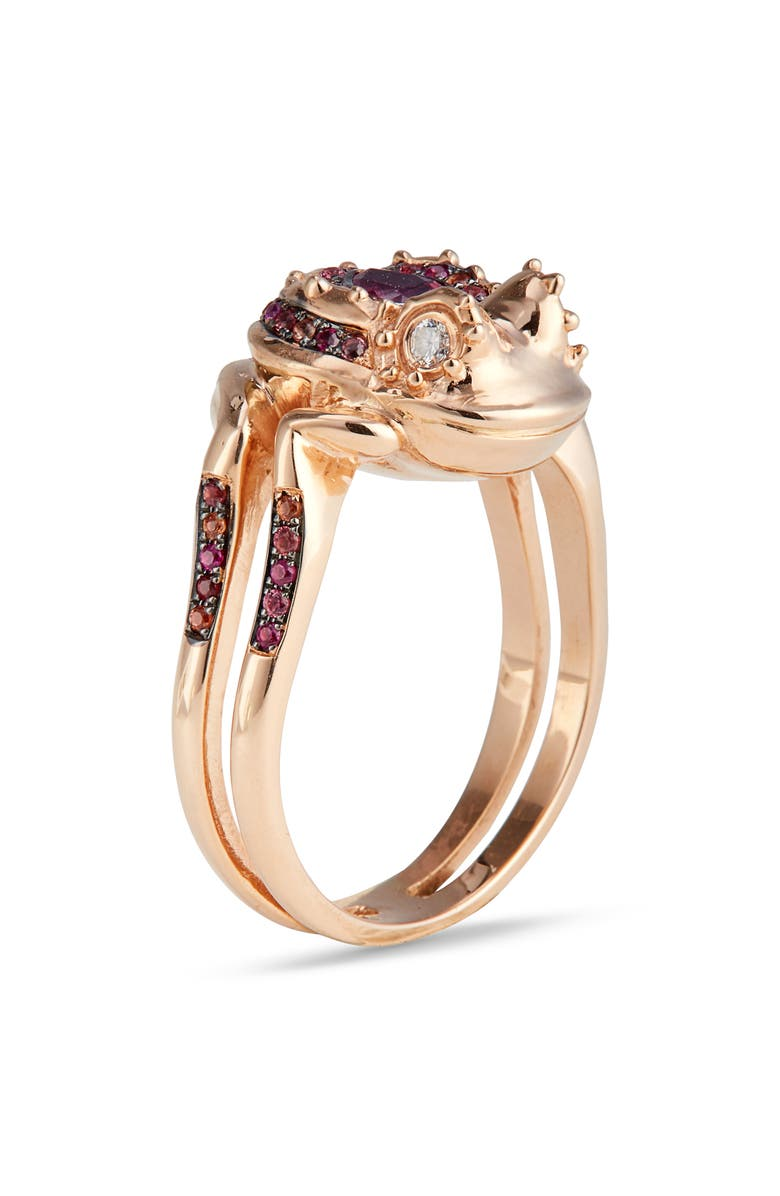 DANIELA VILLEGAS Frog Ring, Main, color, 18K PINK GOLD