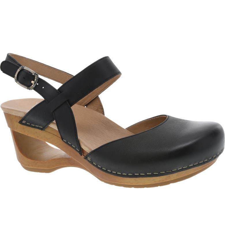 DANSKO Taci Slingback Clog Sandal, Main, color, 001