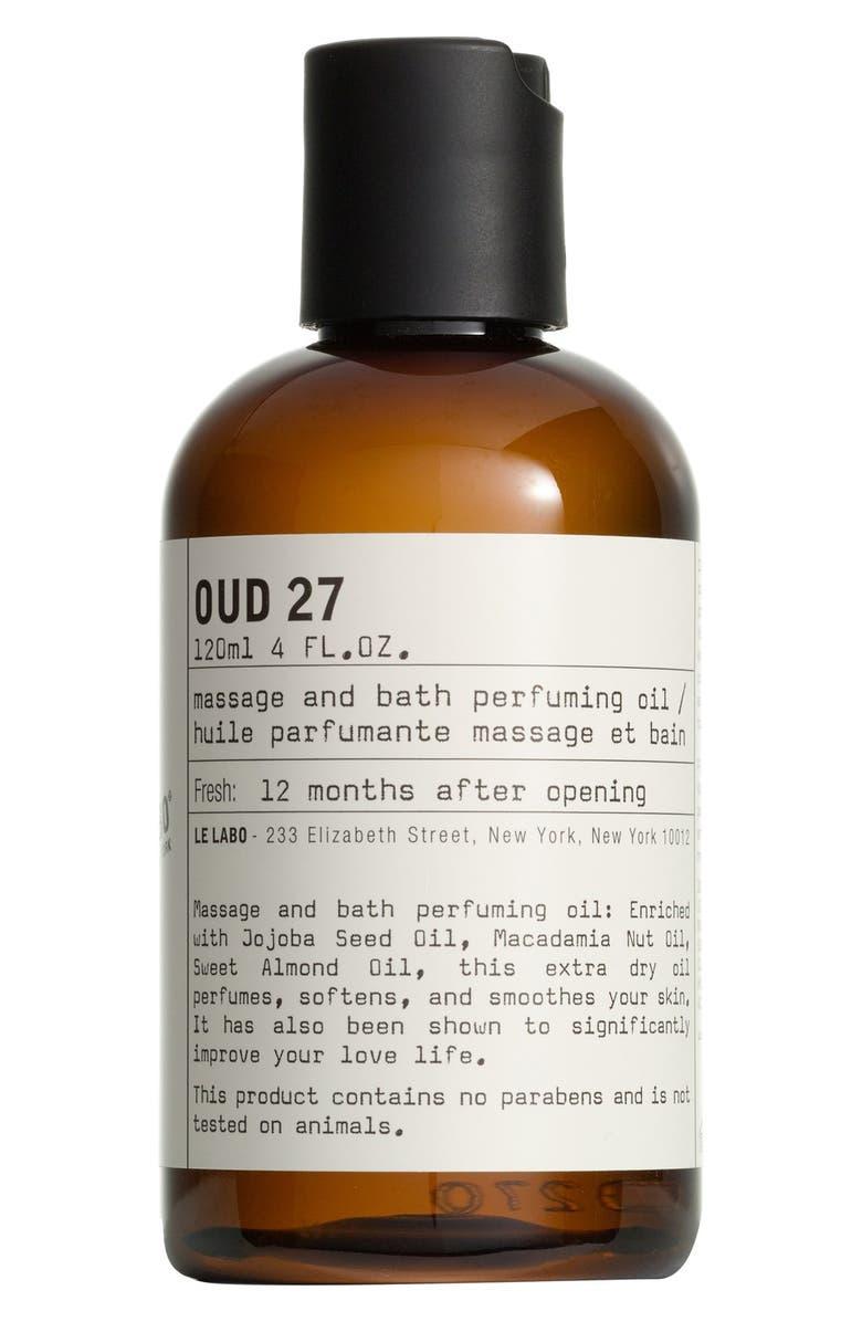 LE LABO 'Oud 27' Body Oil, Main, color, NO COLOR