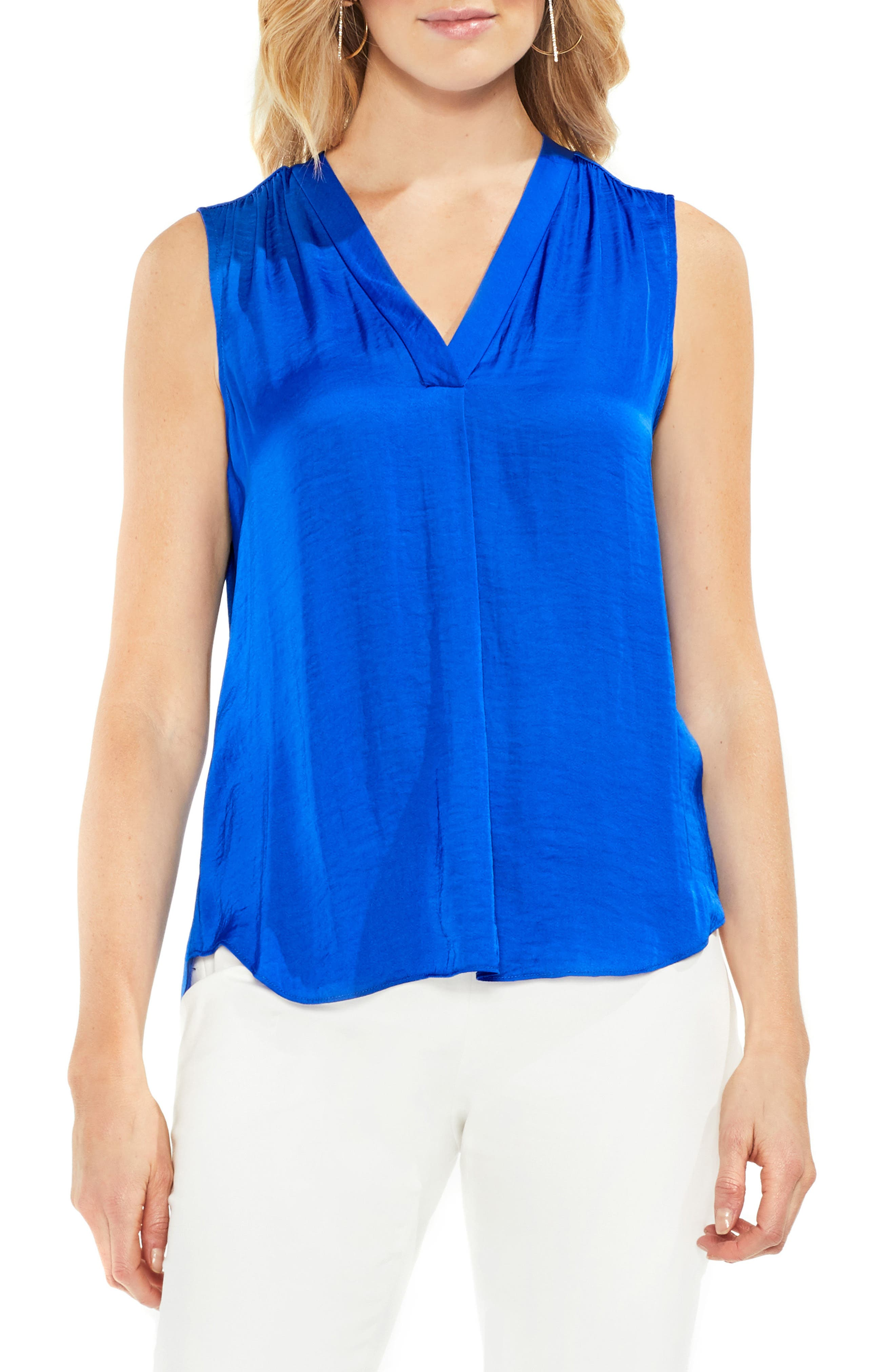 ,                             Rumpled Satin Blouse,                             Main thumbnail 190, color,                             473