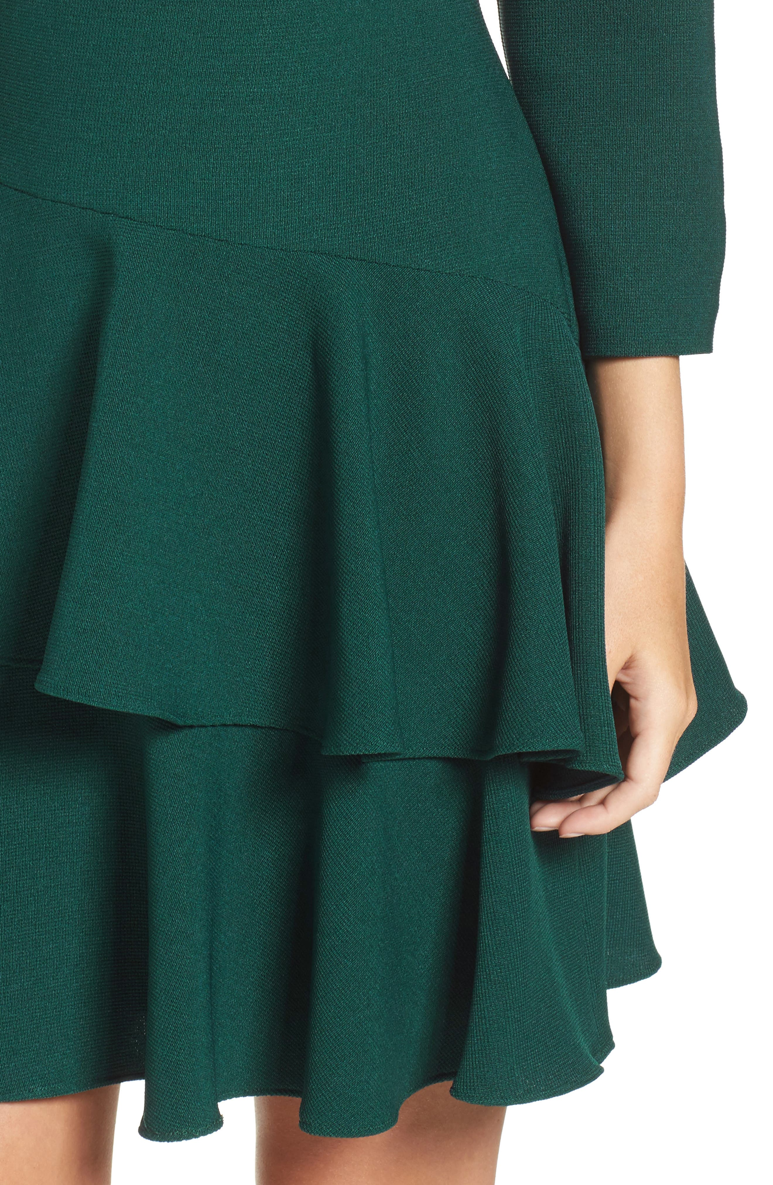 ,                             Tiered Ruffle Knit Dress,                             Alternate thumbnail 11, color,                             302