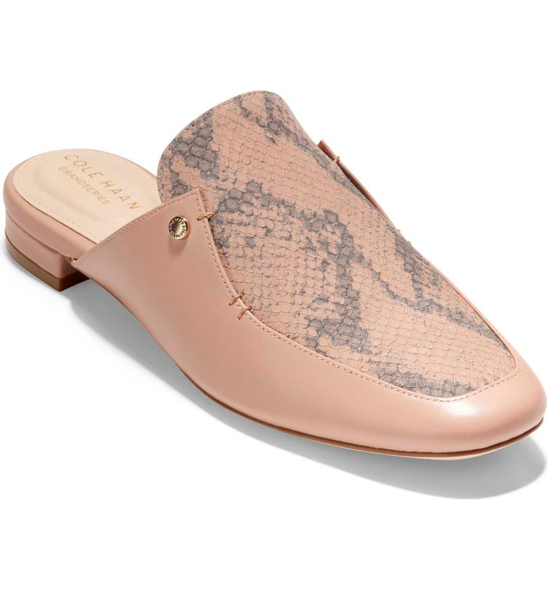 COLE HAAN Ryan Mule, Main, color, MAHOGANY ROSE LEATHER