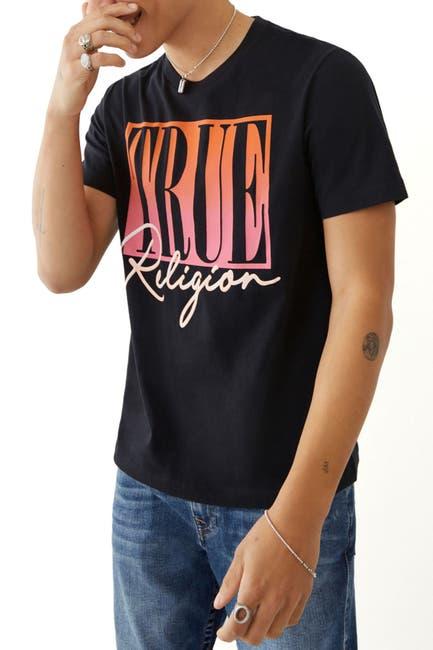 Image of True Religion Ombre True Logo Crew Neck