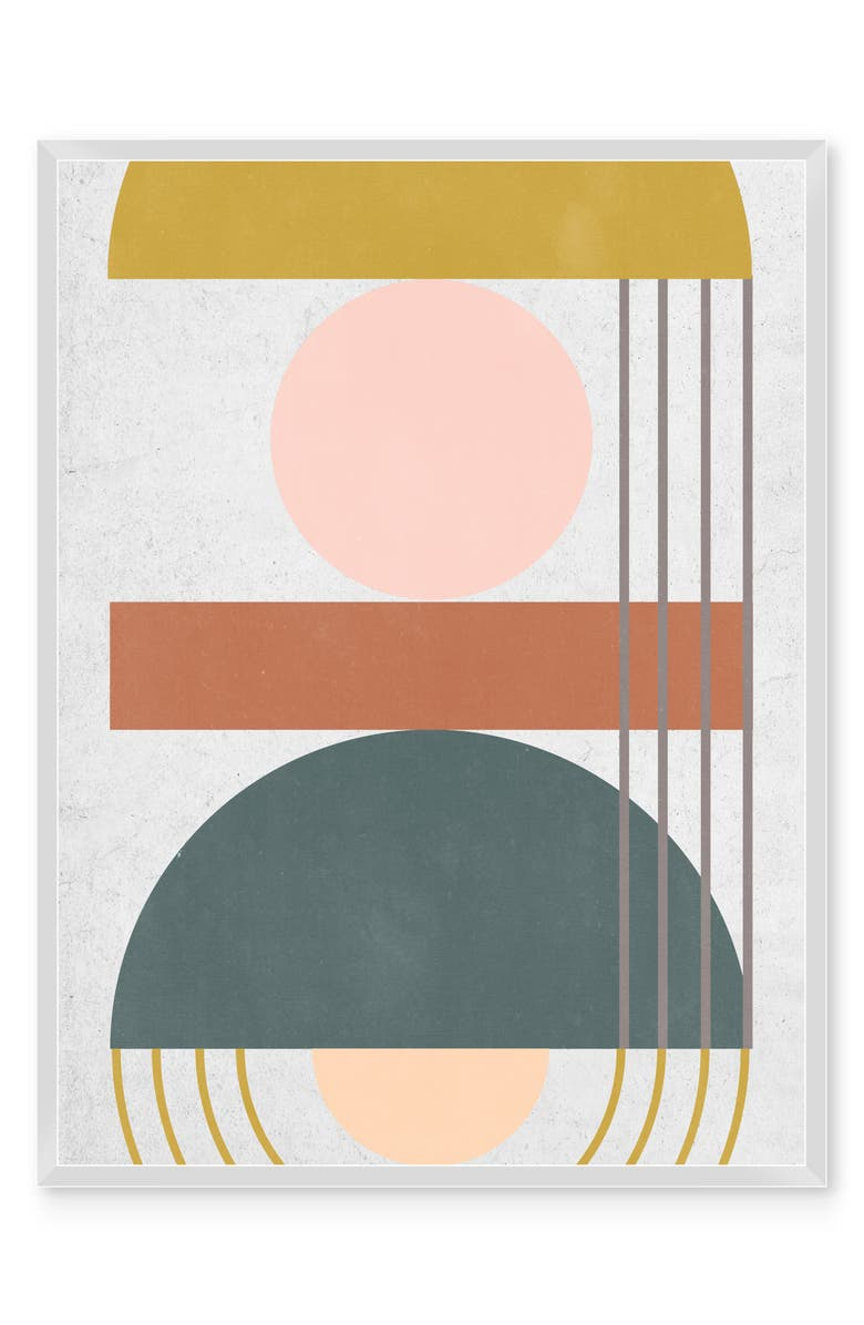 NEW ERA STUDIOS Geometric Daylight III Framed Wall Art, Main, color, MULTI
