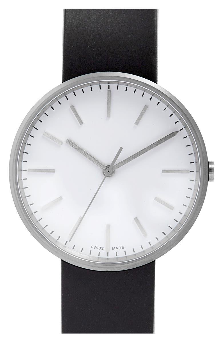 UNIFORM WARES M-Line Rubber Strap Watch, 36mm, Main, color, 001