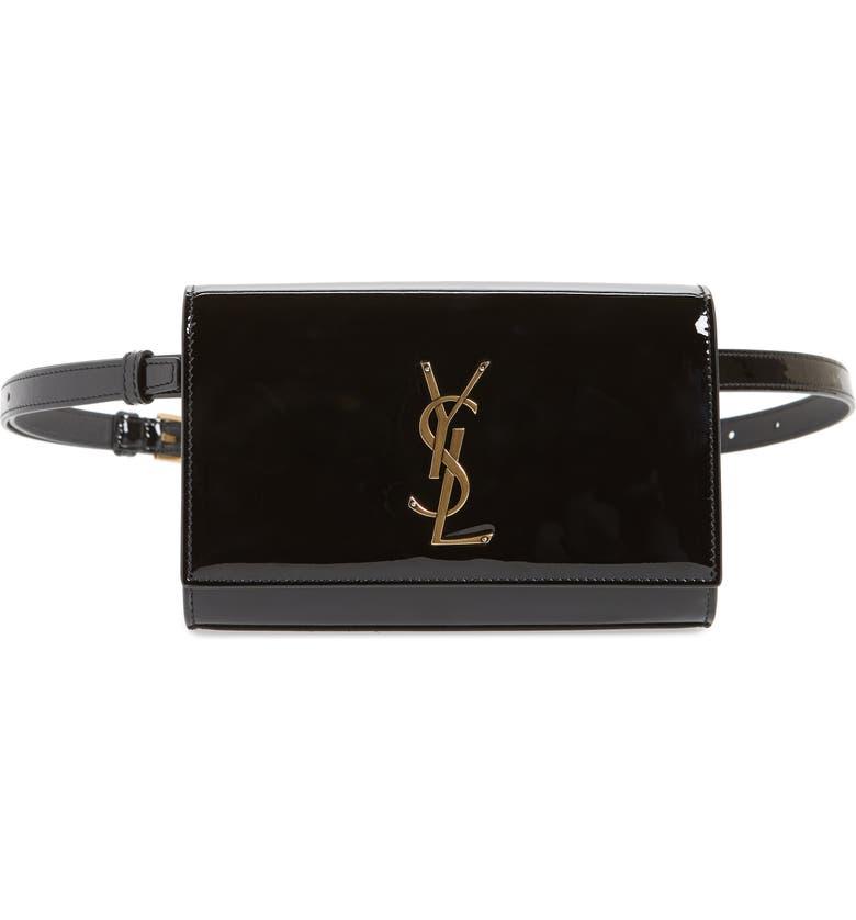 78ec0afee64 Saint Laurent Kate Patent Leather Belt Bag | Nordstrom