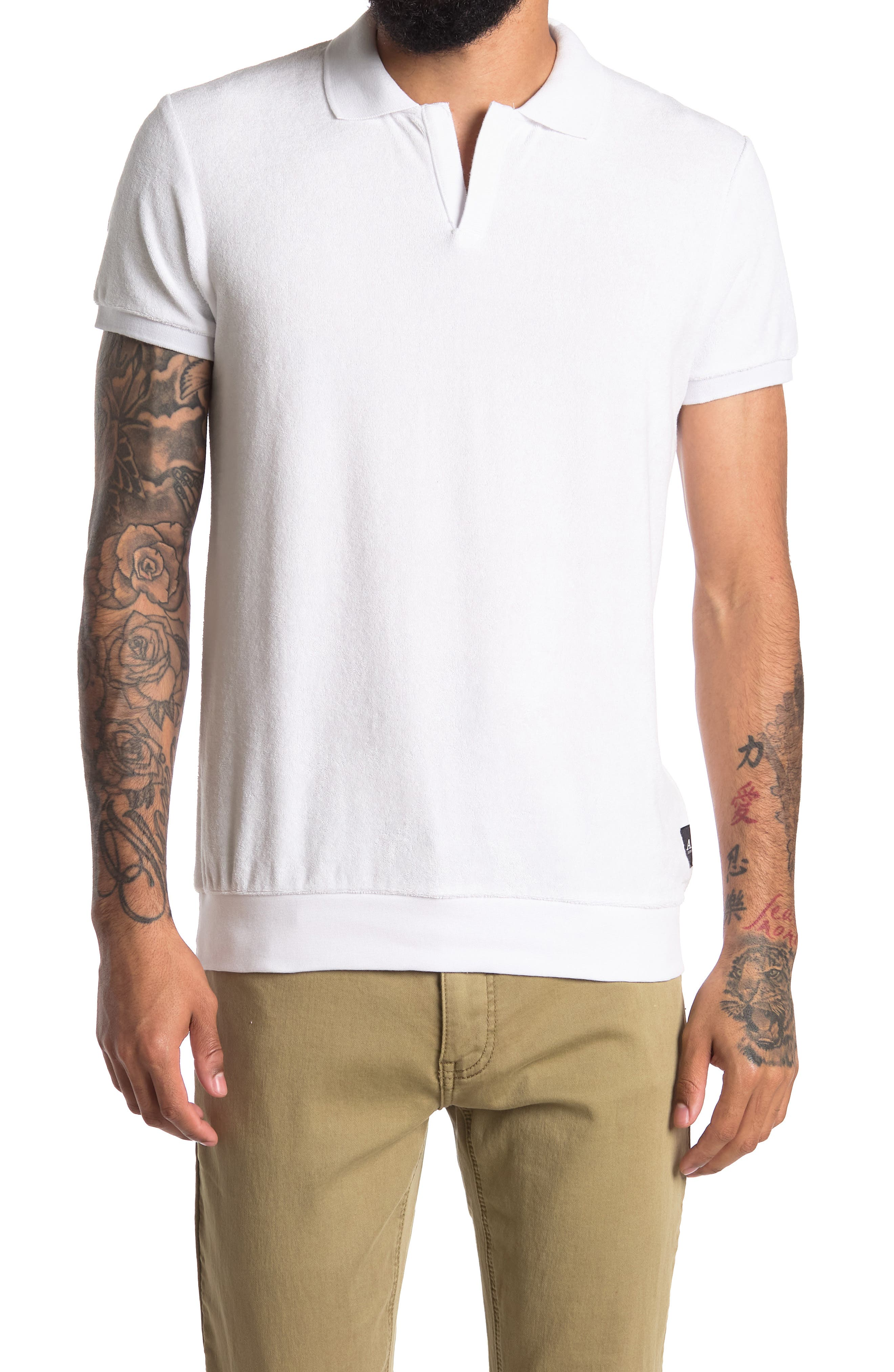 1930s Mens Shirts | Dress Shirts, Polo Shirts, Work Shirts Scotch  Soda Cotton Terry Beach Polo Size M - 0102-Denim White at Nordstrom Rack $34.97 AT vintagedancer.com
