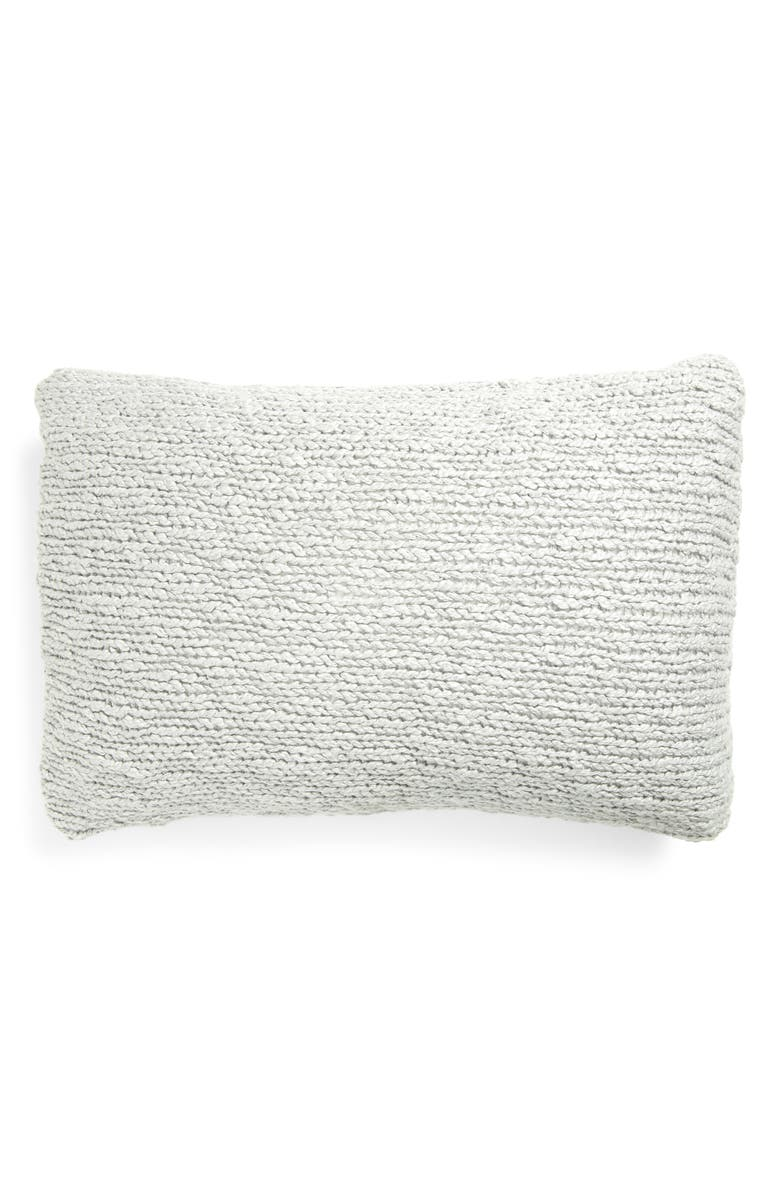 TREASURE & BOND Slub Knit Cotton Accent Pillow, Main, color, GREY SILK