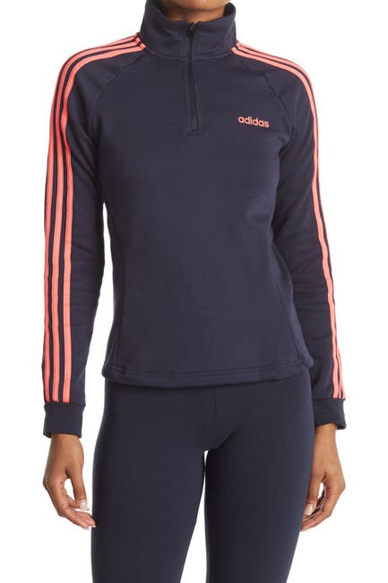 Image of adidas Striped 1/4 Zip Pullover