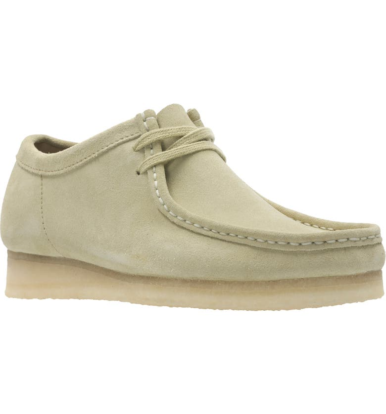 CLARKS<SUP>®</SUP> ORIGINALS 'Wallabee' Moc Toe Derby, Main, color, MAPLE BROWN SUEDE