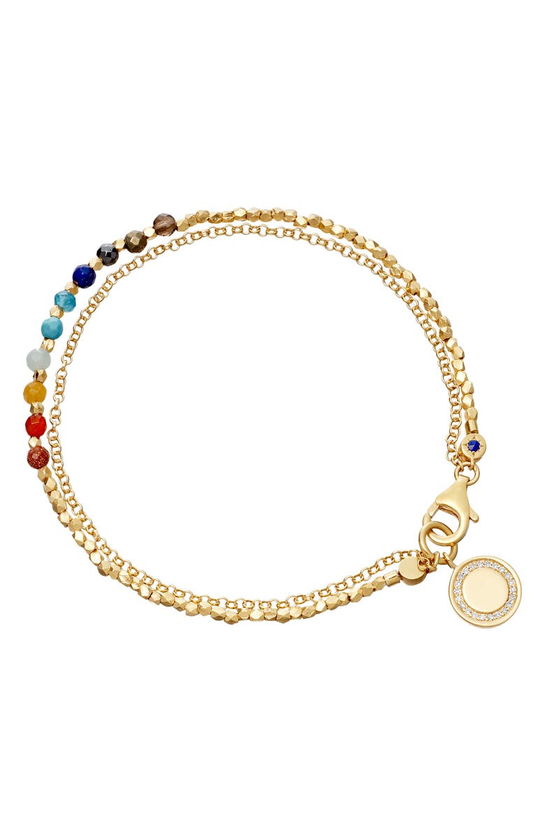ASTLEY CLARKE Rainbow Cosmos Biography Bracelet, Main, color, YELLOW GOLD/ RAINBOW