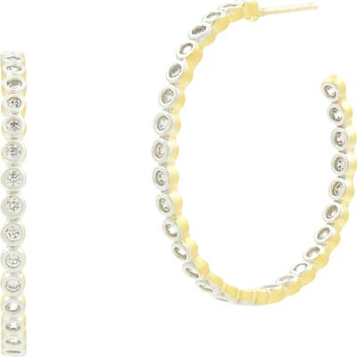 Freida Rothman Color Theory Bezel C-Hoop Earrings