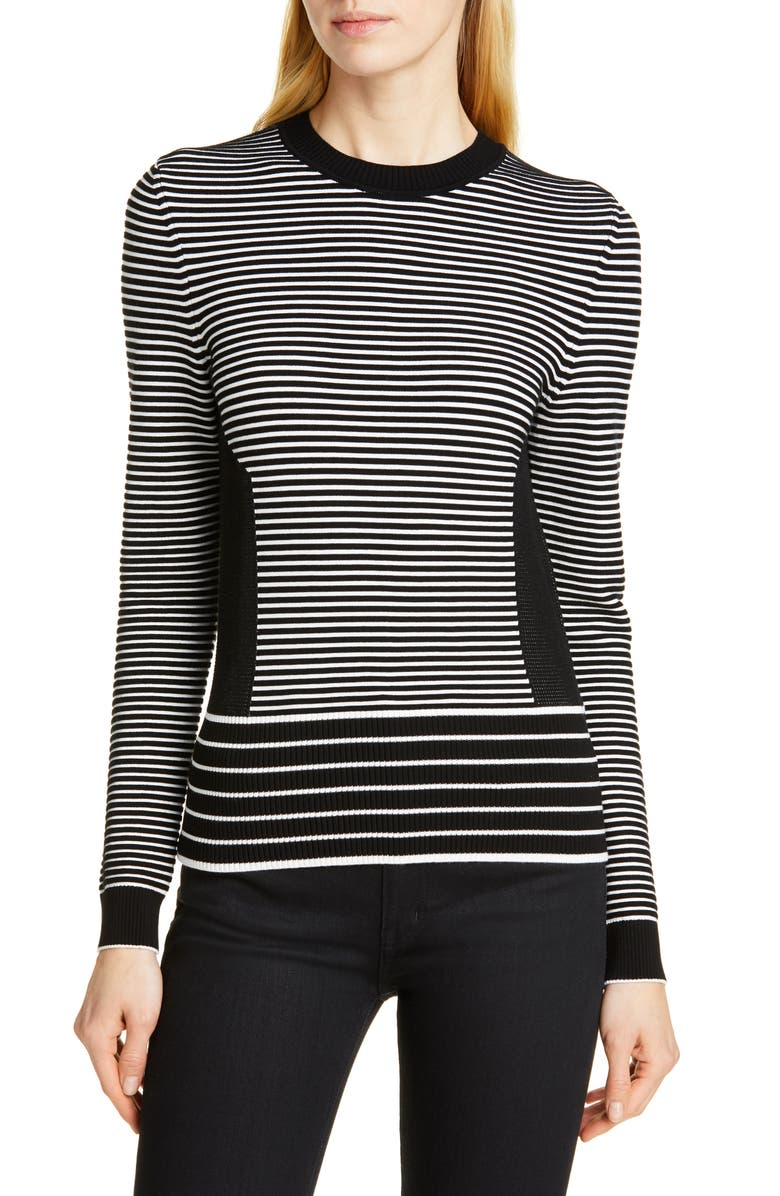 HUGO Shanelle Stripe Sweater, Main, color, 001