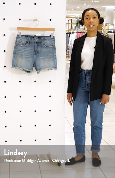 Jagger Longline Denim Shorts, sales video thumbnail