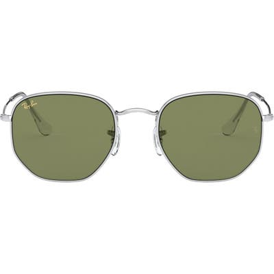 Ray-Ban 4m Sunglasses - Silver/ Green Solid