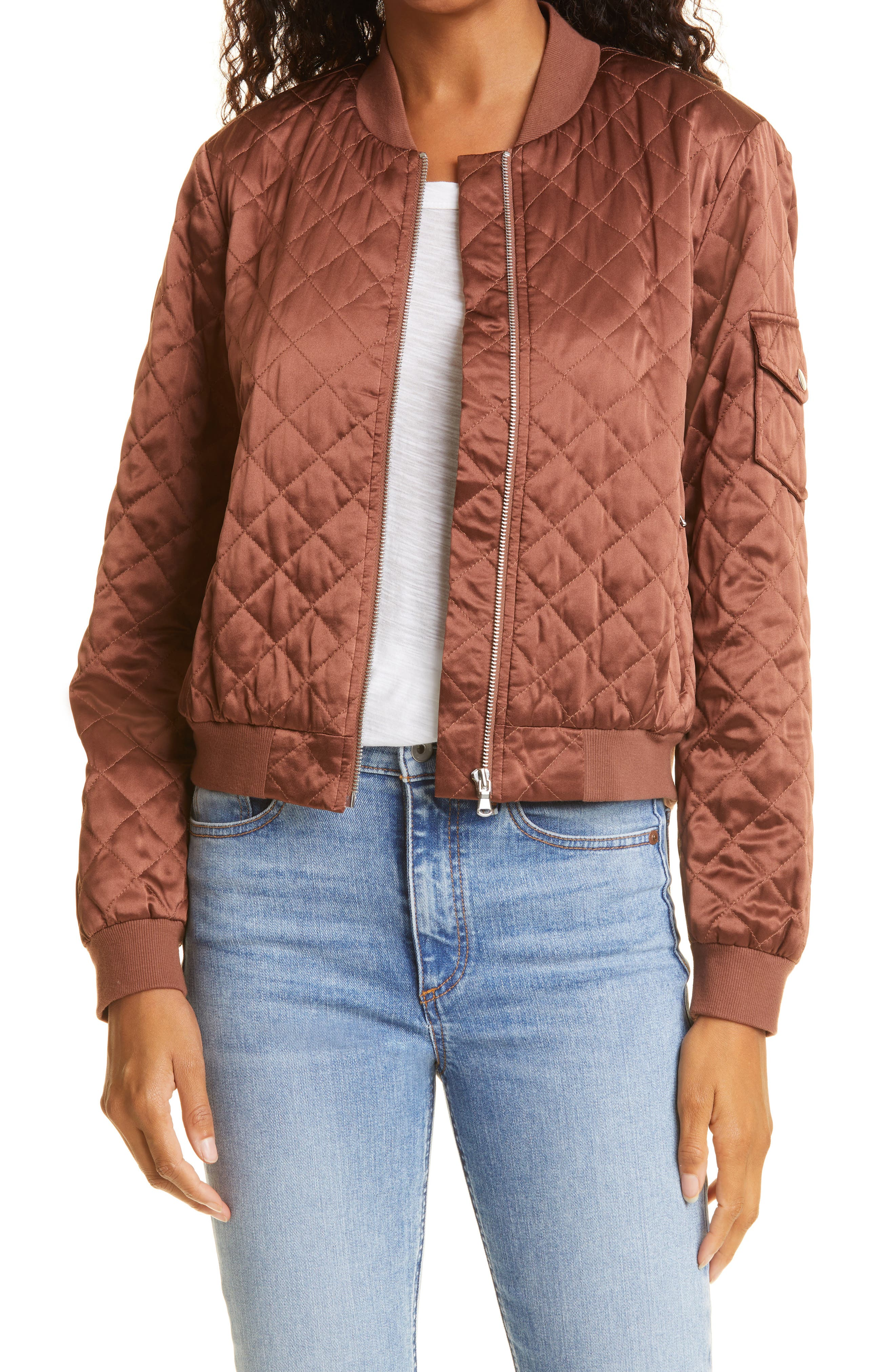 The Dierdre Quilted Silk Bomber Jacket