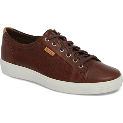 Ecco Soft Vii Lace-Up Sneaker, Brown