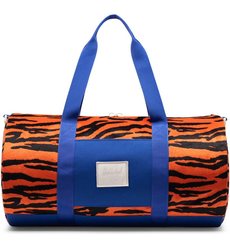 HERSCHEL SUPPLY CO. Mid-Volume Sutton Duffle Bag, Main, color, TIGER/ ROYAL BLUE