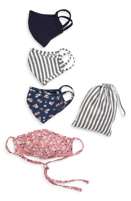 Image of Nordstrom Adult Assorted Face Mask 5-Piece Set