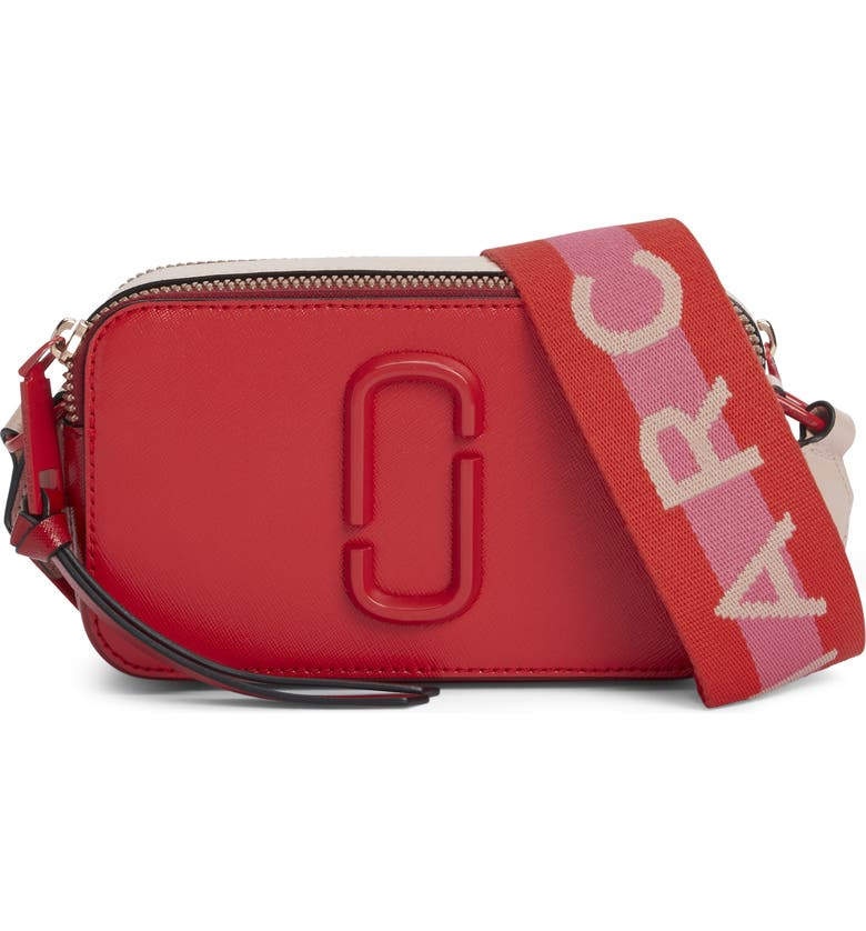 MARC JACOBS Snapshot Leather Crossbody Bag, Main, color, 600