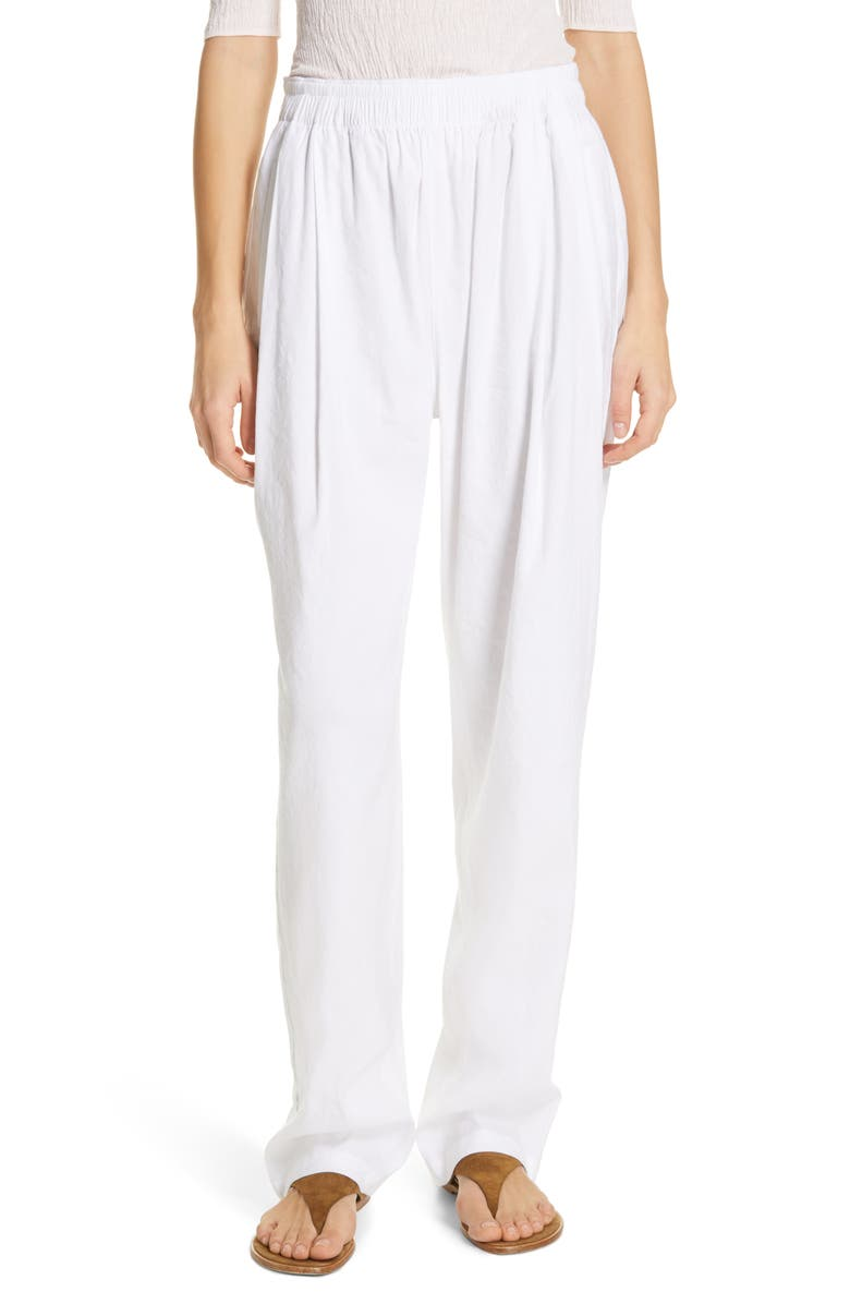 VINCE Tapered Pull-On Pants, Main, color, OPTIC WHITE
