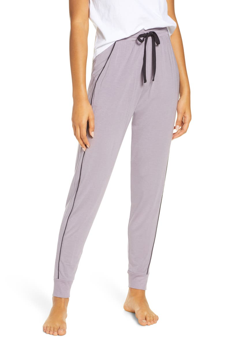 TOMMY JOHN Piped Jogger Pants, Main, color, GREY RIDGE