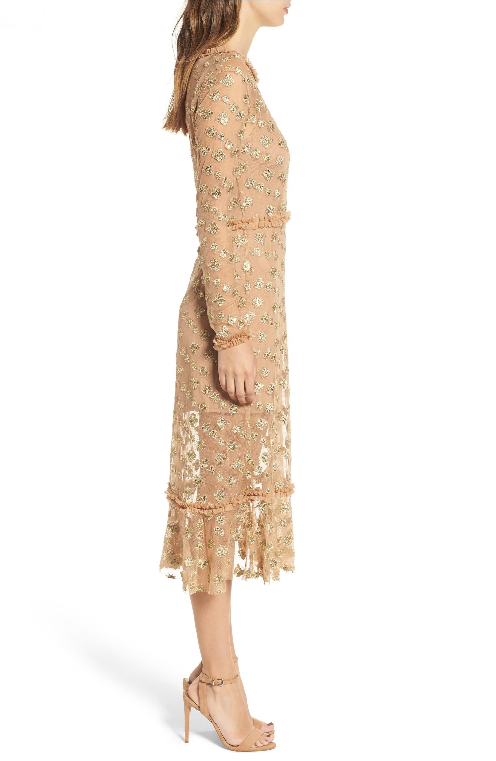 a78c867d1f For Love & Lemons Golden Garden Tulle Midi Dress | Nordstrom