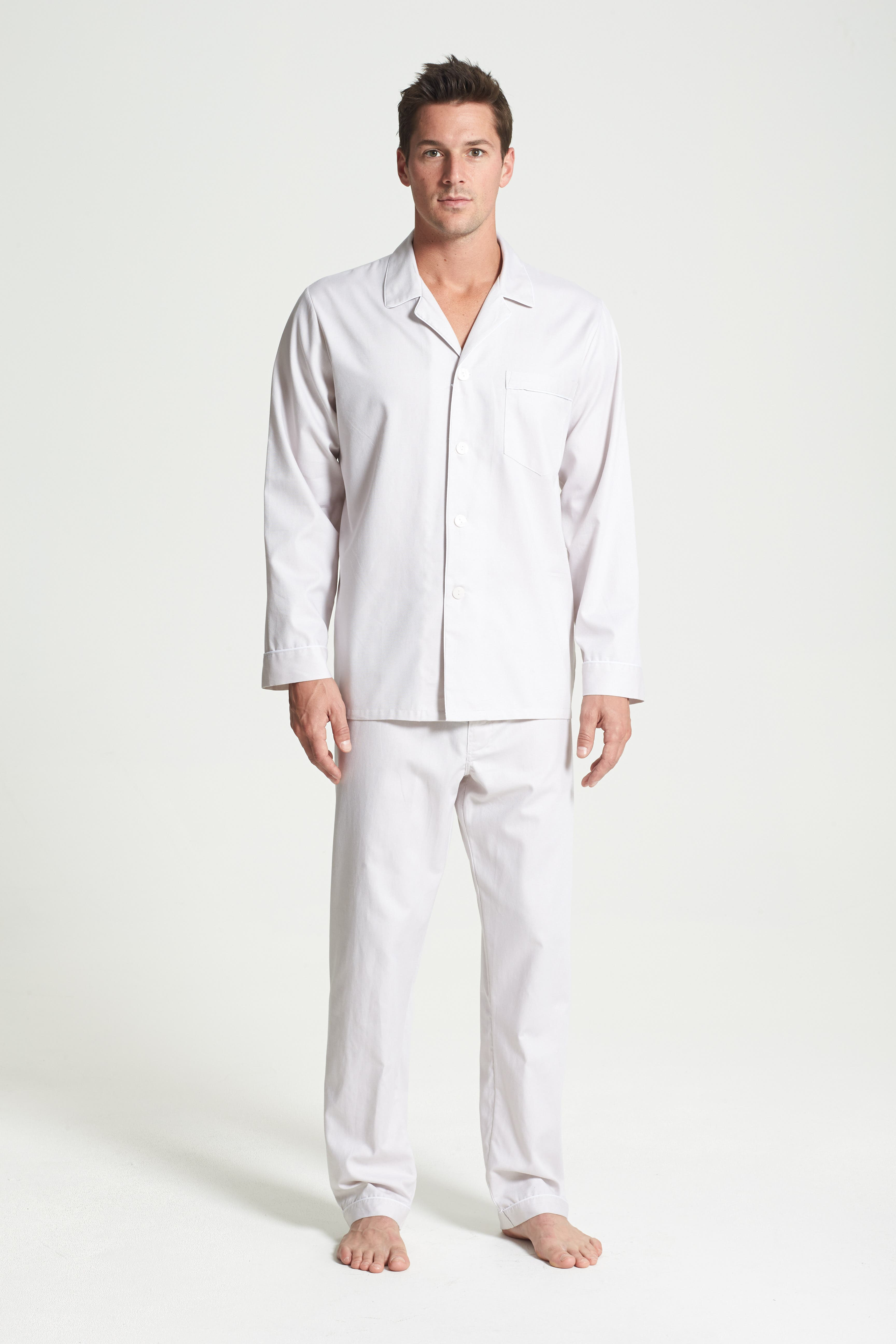 ,                             Herringbone Cotton Pajamas,                             Alternate thumbnail 7, color,                             209