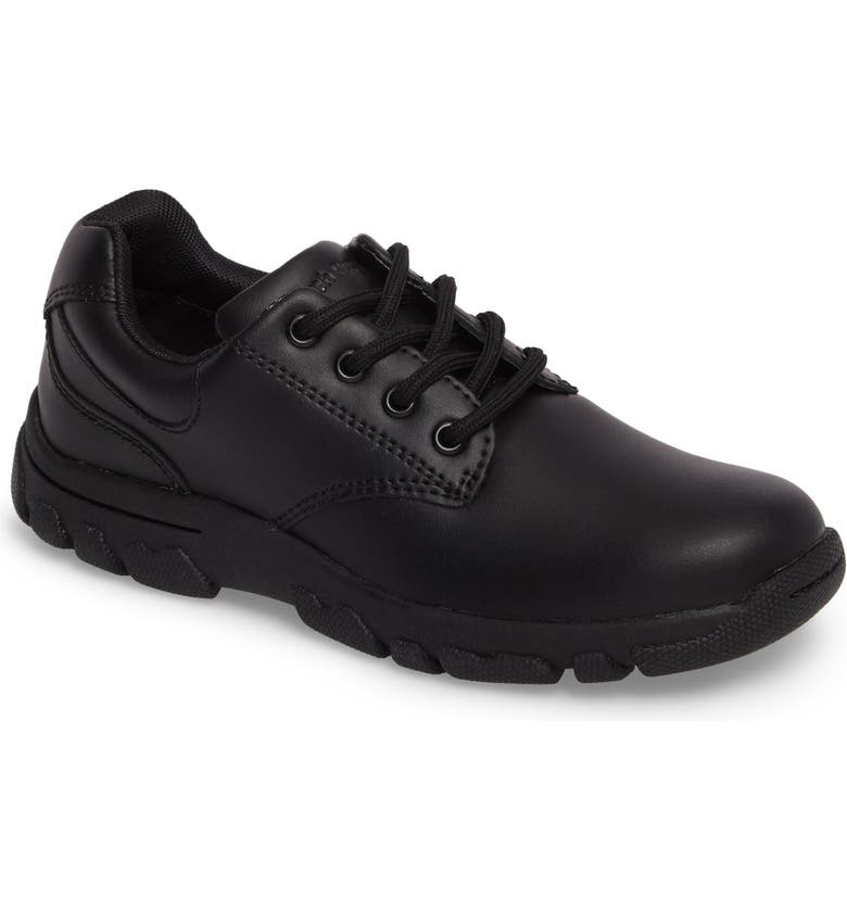 HUSH PUPPIES<SUP>®</SUP> Chad Sneaker, Main, color, BLACK LEATHER