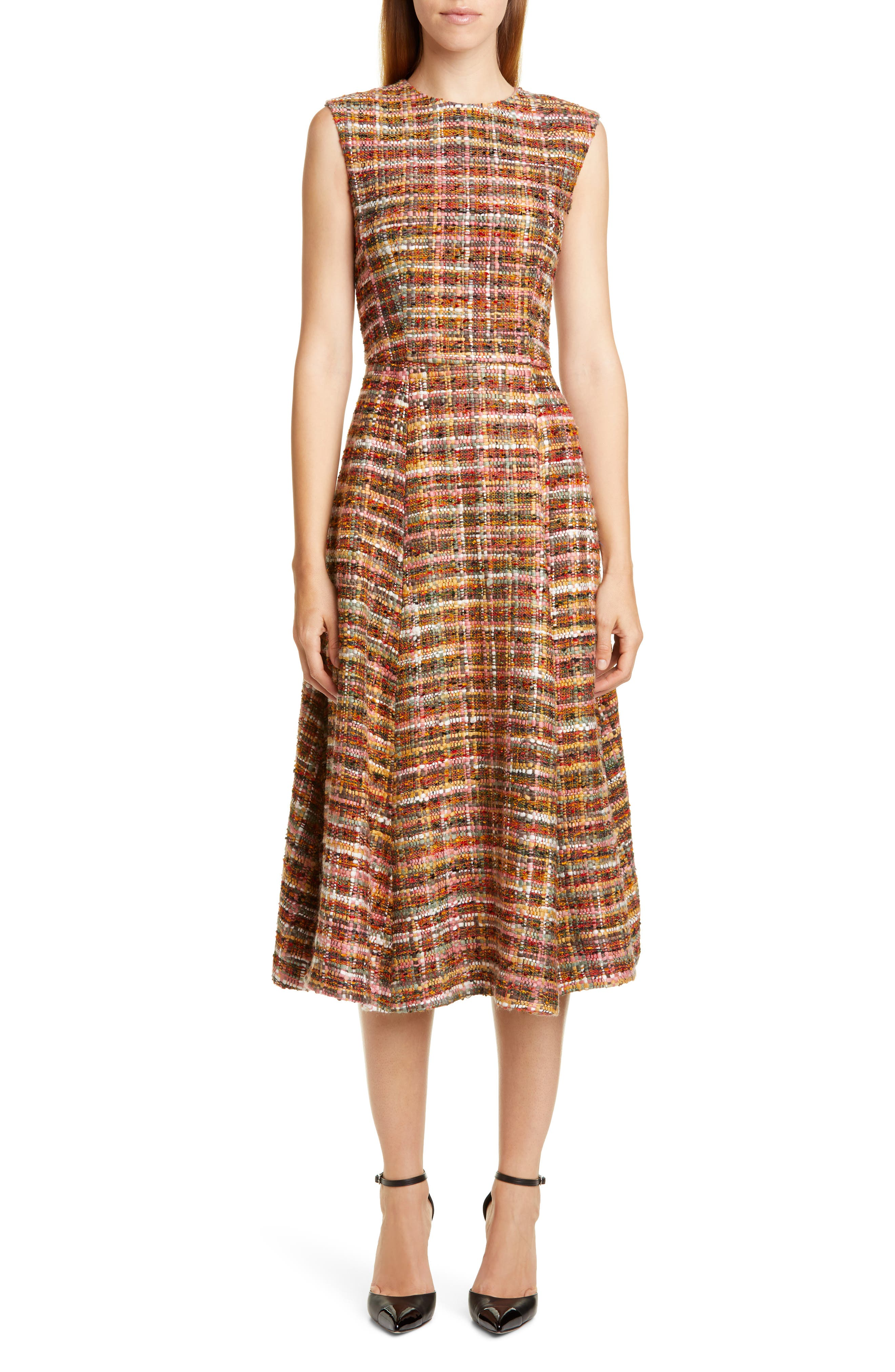 Adam Lippes Dresses Tweed Fit & Flare Dress