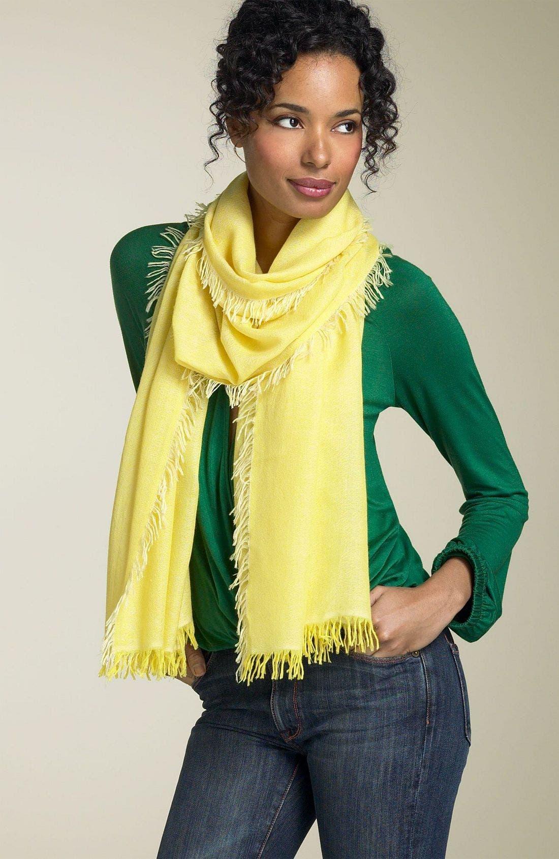 ,                             'Eyelash' Colorblock Cashmere Wrap,                             Main thumbnail 106, color,                             750