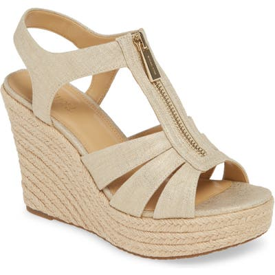 Michael Michael Kors Berkley Platform Wedge, Metallic