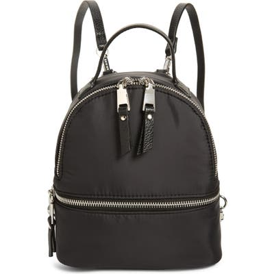 Steve Madden Mini Nylon Puffer Convertible Backpack - Black