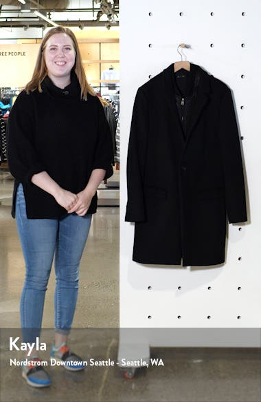 Lockwood Slim Fit Wool Coat with Removable Bib Inset, sales video thumbnail