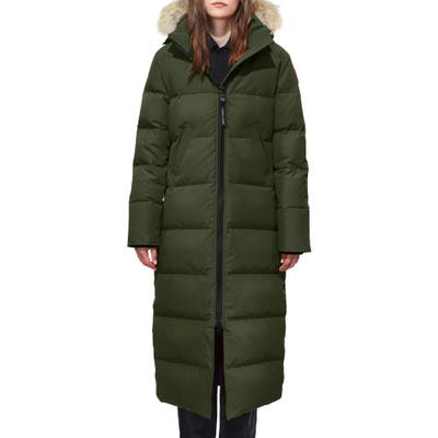 Canada Goose Mystique Down Parka With Genuine Coyote Fur Trim, (0) - Green