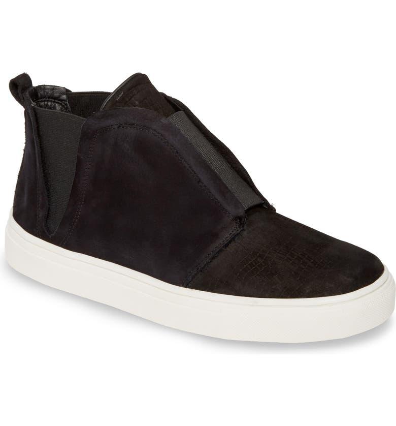 KAANAS Cozumel Chelsea Sneaker, Main, color, BLACK LEATHER