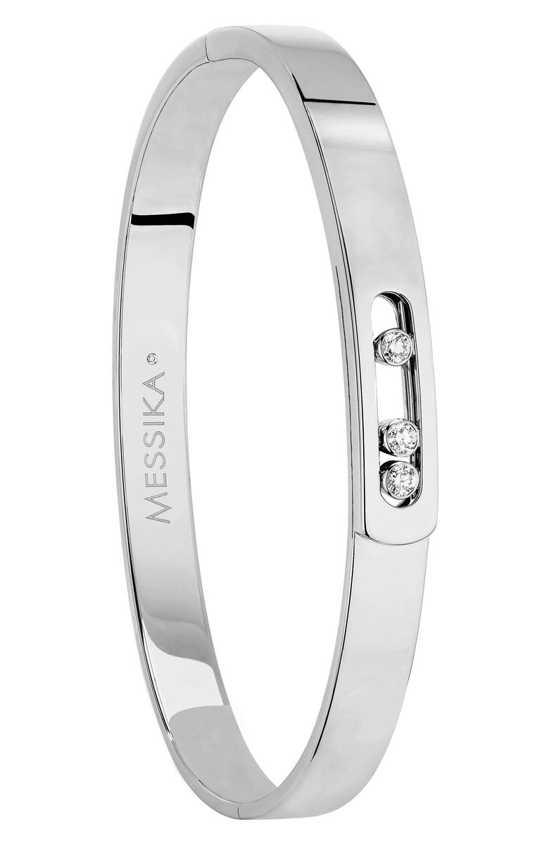 MESSIKA Move Noa Diamond Bangle, Main, color, WHITE GOLD