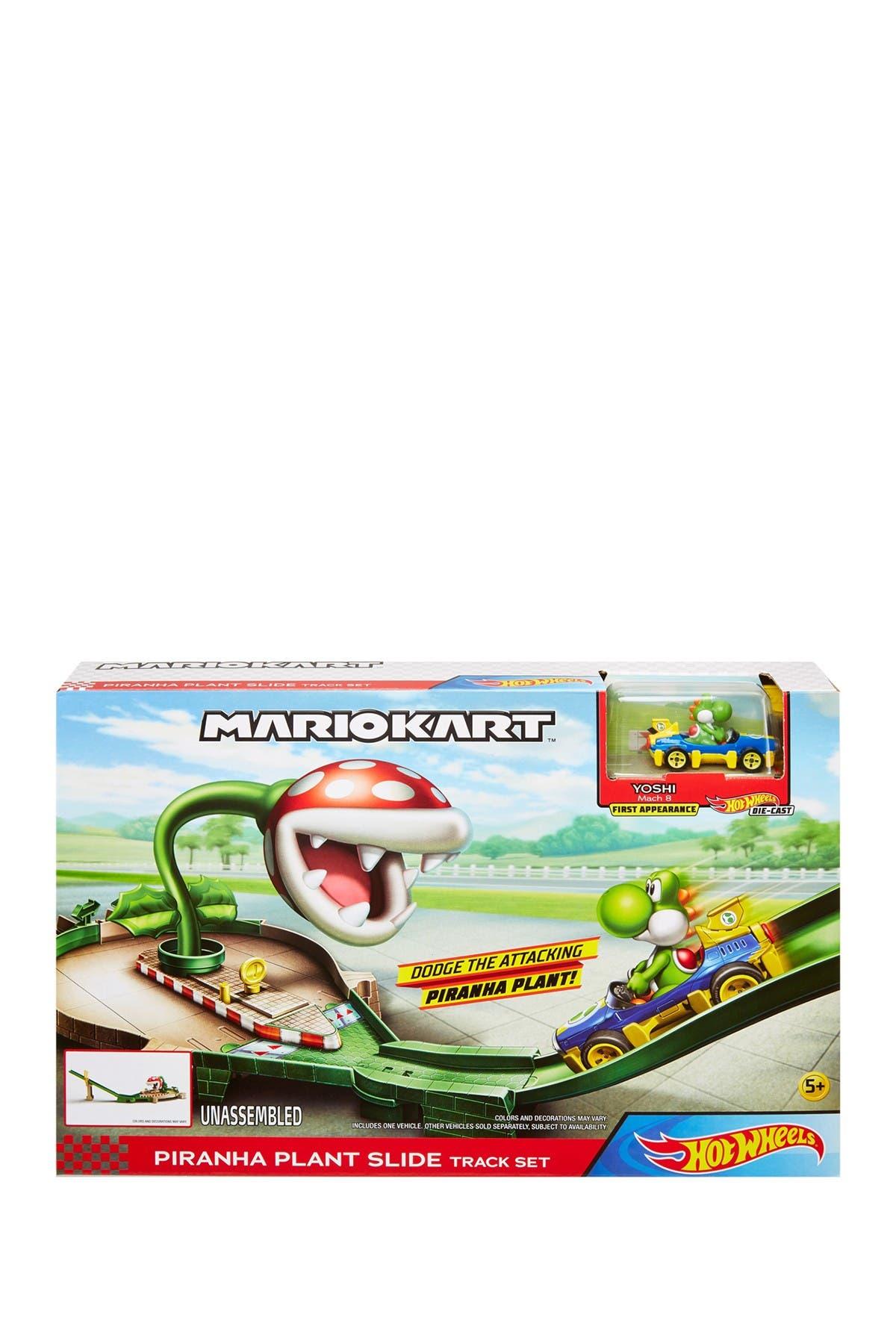 Image of Mattel Hot Wheels(R) Mario Kart Nemesis Track Set - Piranha Plant Slide