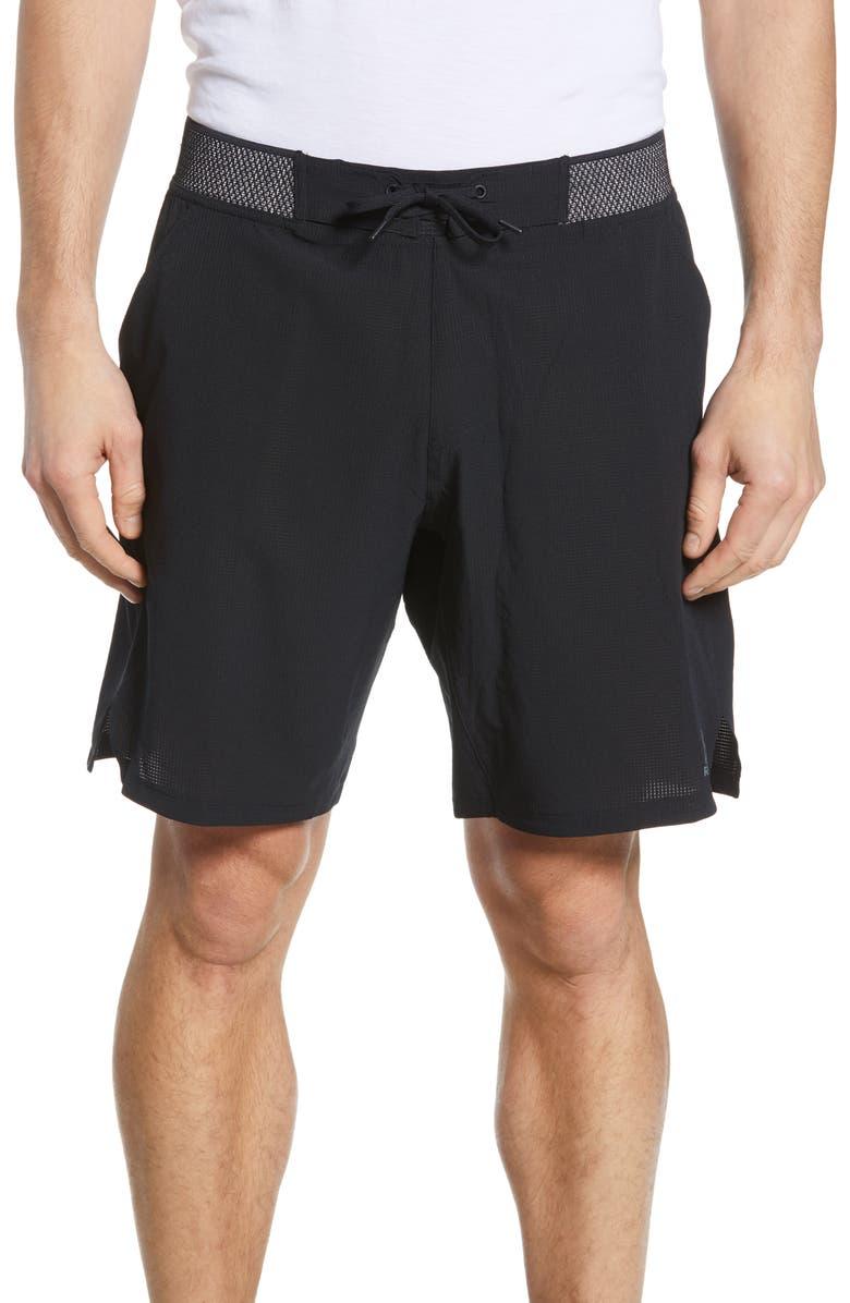 REEBOK OST Epic Knit Waist Shorts, Main, color, BLACK