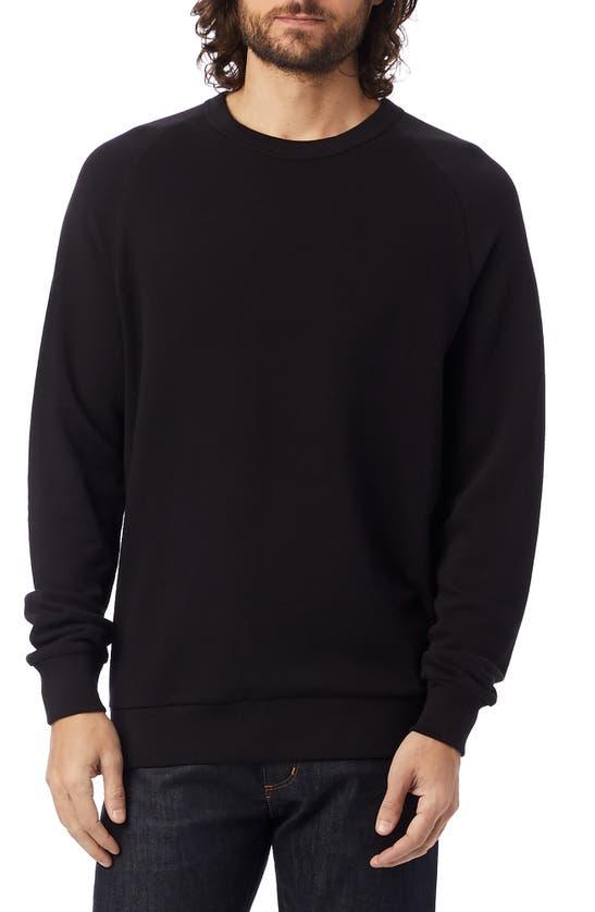Alternative Champ Washed Terry Sweatshirt In Black